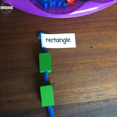 shape matching activity for toddler, preschool, prek, kindergarten