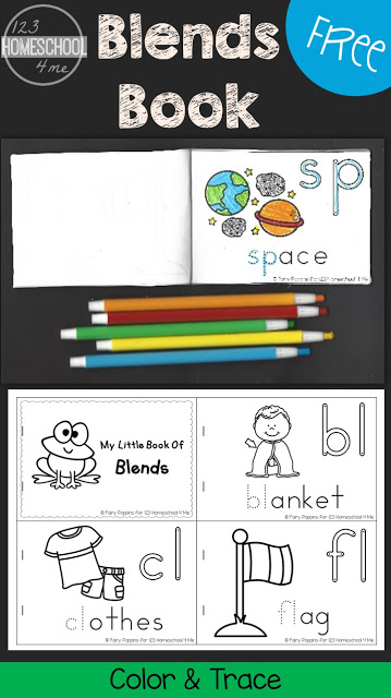 Make learning to recognize, hear, and spell blends is important for young learners starting to read. This super cute, free printable blends book is a fun way to practice as first grade and 2nd graders color, trace, and read! These color by blend worksheet will help kids get to know blends in no time!
