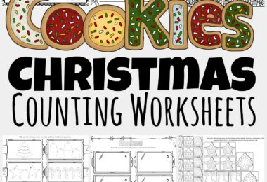 These super cute, free printable Christmas counting worksheets allow toddler, preschool, pre-k, and kindergarten age students to practice counting Christmas cookies. These free Christmas Worksheets are a fun, no-prep Christmas Math activity for young learners during December. Simply download pdf file withChristmas Math Worksheets and have fun practicing coloring and counting to 20.