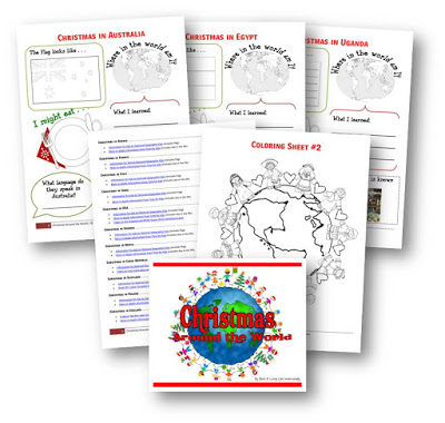 FREE Christmas Around the World - explore over 30 countries: crafts, foods, printable worksheets, videos, information and more