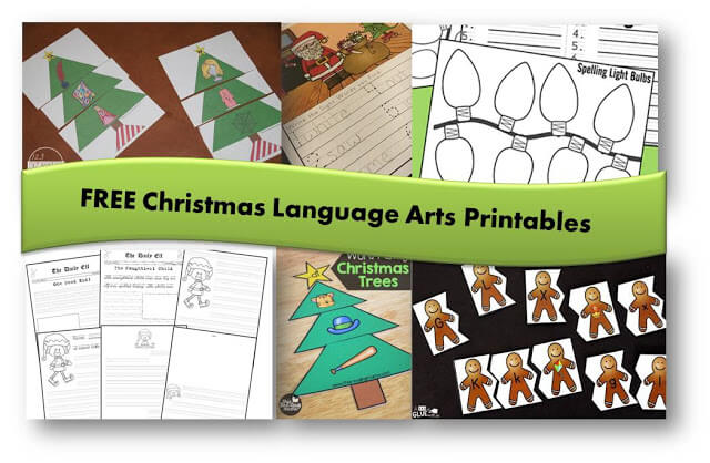 FREE Christmas Language Arts Printables for Kindergarten, first grade, 2nd grade, 3rd grade, 4th grade, 5th grade