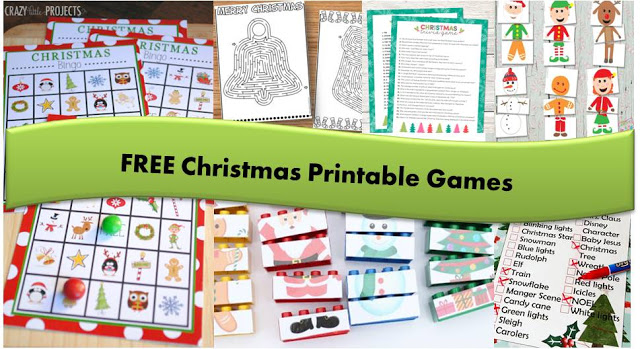 FREE Christmas Printable Games