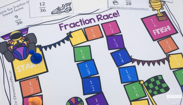 Fraction Race_Simplify fractions