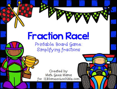 graphic regarding Printable Fractions Games referred to as Fractions Board Video game 123 Homeschool 4 Me