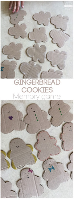 Memory is a tricky thing, did you know it should be exercised? Make this fun DIY memory game perfect for December using any cardboard you have laying around! This gingerbread men activity is a fun toddler, preschool, and kindergarten math activity for December.