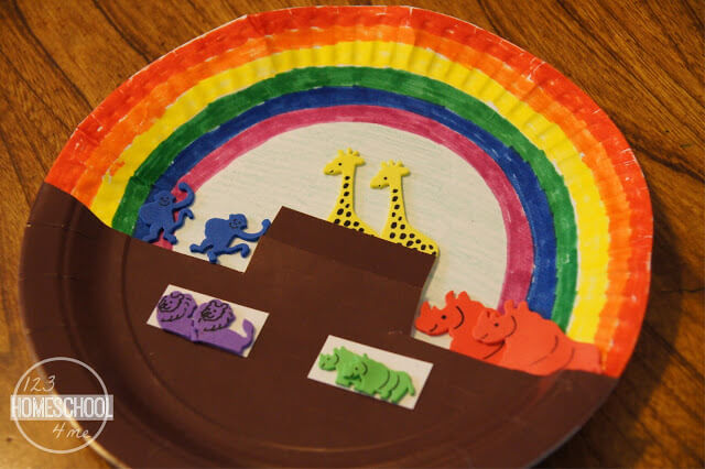 Noah's Ark paper craft for Sunday School Lessons