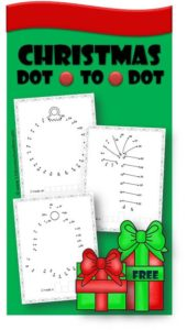 FREE Christmas Dot to Dot Worksheets - these Printables are a fun way for kids from preschool, kindergarten, and first grade to practice counting from 1-50 during December. GREAT way to make math worksheets become a Christmas activities for math centers and extra practice. #dototodotworksheets #christmasprintables #christmasworksheets #christmas #preschool #kindergarten #firstgrade #kindergartenmath #christmasmath