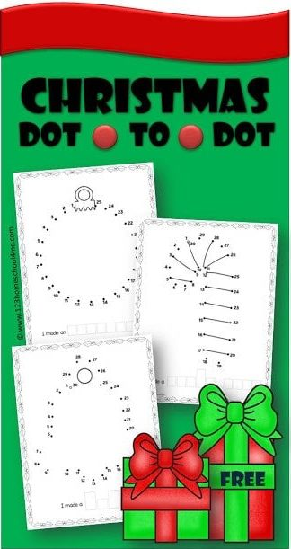 Kids will have fun practicing counting from 1-50 with these super cute, free printable christmas dot to dot. Children will count to 10, count to 30, count to 40, and count to 50 with these funChristmas Math Worksheets! Download pdf file with a pack offree Christmas Worksheets to make math fun in December as preschool, pre-k, and kindergarten age children practice counting with Christmas Math.