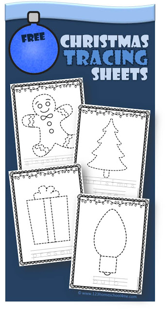 FREE Christmas Tracing Sheets #christmasprintables #christmasworksheets -  http://bit.ly/2F2NDB2
