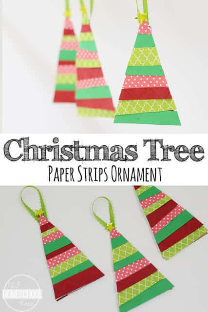 Paper Strip Christmas Tree Ornament