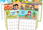 FREE-Printable-Princess-Calendar