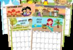 FREE-Printable-Princess-Calendar
