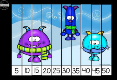 Winter-Skip-Counting-Puzzles