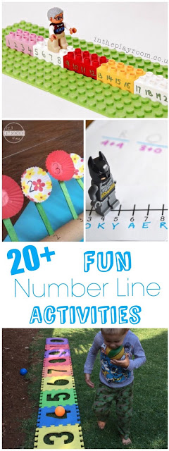 Help children improve number sense with these super cute, engaging, and o so FUN Number line activities for preschool pre k, kindergarten, and first grade students. You will use Lego to make an interactive number line, plant a number line garden, get gross motor skills involved in making an outdoor number line, and so many more fun number lines for you to make as you practice math!