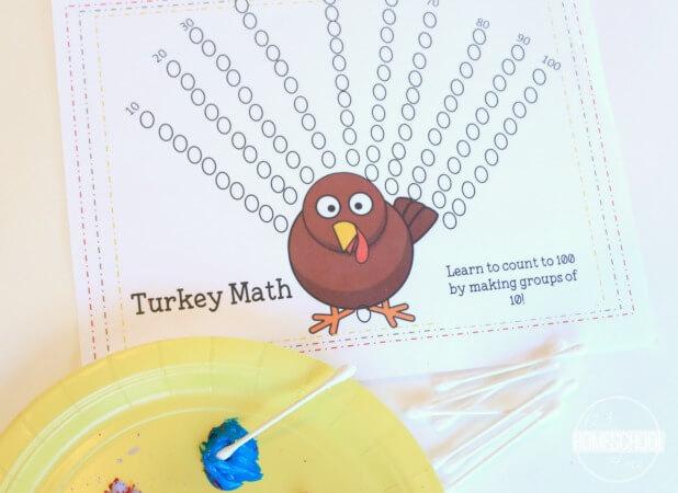 turkey math worksheet