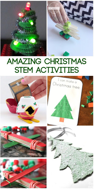 TONS of Amazingly FUN Christmas STEM Activities Elementary - these are fun hands on learning activities that combine science, math, engineering and more for kids in preschool, Kindergarten, first grade, 2nd grades, 3rd, 4th, 5th. Easy, fun, and awesome lesson plans ideas or math center challenges.