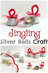Christmas Bell Craft - this is such a fun Christmas craft for kids in toddler, preschool, and kindergarten. #christmascraft #craftsforkids #bellscraft