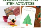 TONS of Amazingly FUN Christmas STEM Activities - these are fun hands on learning activities that combine science, math, engineering and more for kids in preschool, Kindergarten, first grade, 2nd grades, 3rd, 4th, 5th. Easy, fun, and awesome lesson plans ideas or math center challenges. #christmas #christmasactivities #stem