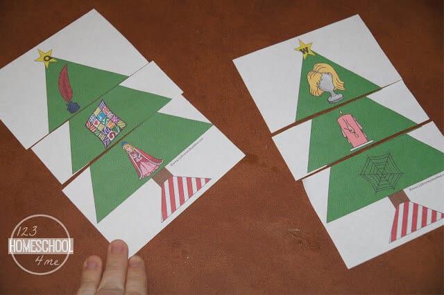 Christmas Tree Puzzle Printable
