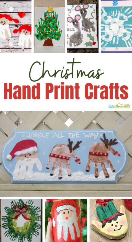 Make one of these super cute and cleverChristmas Handprint Art projects this December! Not only are they a funChristmas craft for preschool, toddler, pre-k, kindergarten, and first graders, but these Christmas handprint crafts make great gifts or keepsake decorations you will treasure for a lifetime. The hardest part is picking whichChristmas handprint ideas to make first!