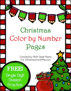 Christmas Color by Number Division Practice