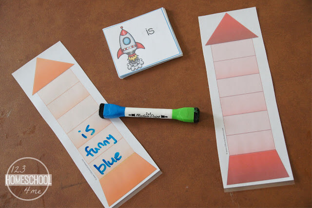 Pre Primer Sight Words - Rocket Game to help preschool, kindergarten and 1st grade students