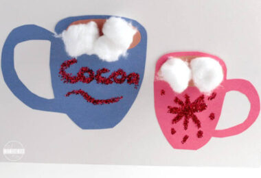 Simple Hot Cocoa Craft for Kids