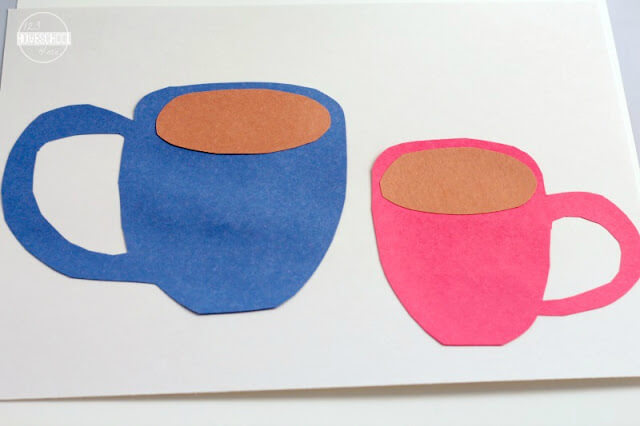 simple winter craft for toddler, preschool, kindergarten