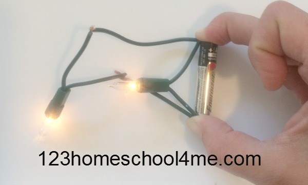 test broken christmas lights with battery