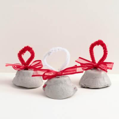 bell Christmas Craft for toddler, preschool, prek, kindergarten to make in December