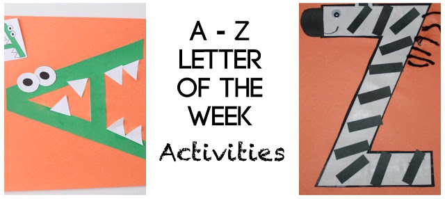 A to Z letter of the week activities for toddler, preschool, prek, kindergarten