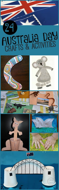 Australia Day - 24 Australia Crafts for Kids and activities to celebrate January 26th (preschool, kindergarten, geography, homeschool, Australian activities)