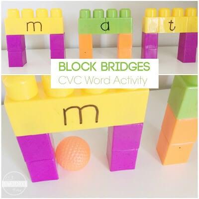 Block Bridges - CVC Words Kids Activities