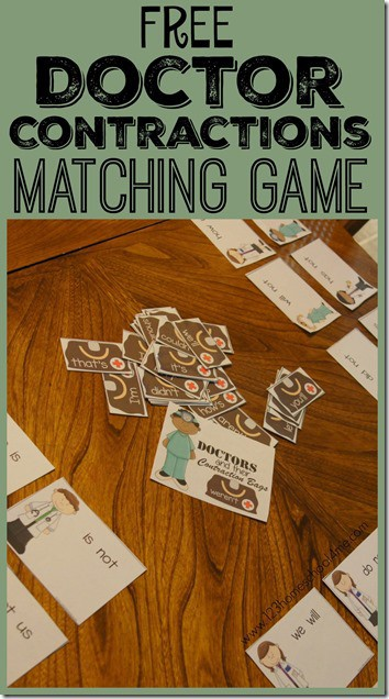 Make practicing contractions fun with this super cute, free printable Doctor contraction matching game. In this contractions matching game students in 2nd grade, 3rd grade, 4th grade, and 5th graders will practice identifying 26 common contractions for kids. Download pdf file with the contraction activity to make learning fun.