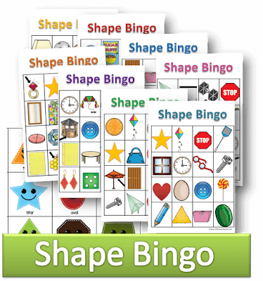 graphic about Printable Shapes titled No cost Styles Bingo 123 Homeschool 4 Me