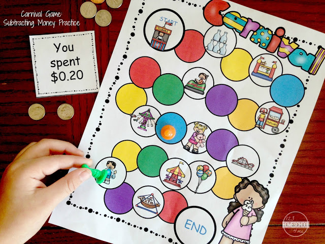 Subtracting money games for 2nd grade, 3rd grade, and 4th grade students