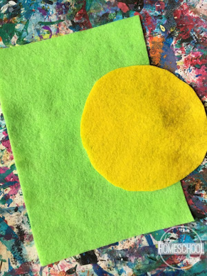 art project for kids using felt