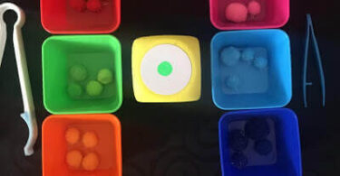 Rainbow Pom Pom Color Sorting Game