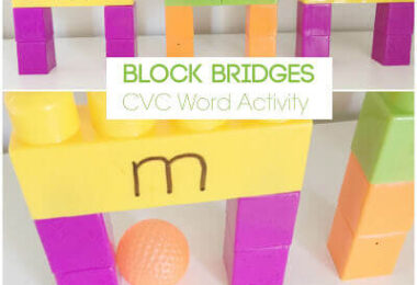 CVC Words Block Bridges Activity