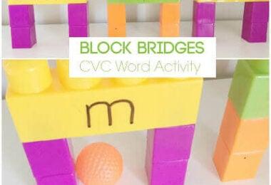 CVC Words Block Bridges Activity