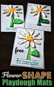 Flower Shape Playdough Mats for preschool and kindergarten age kids