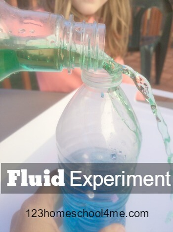 Fluid Experiment for Kids - This fun science project allows kids to experiment with fluid with a fun STEM activity for kids of all ages.