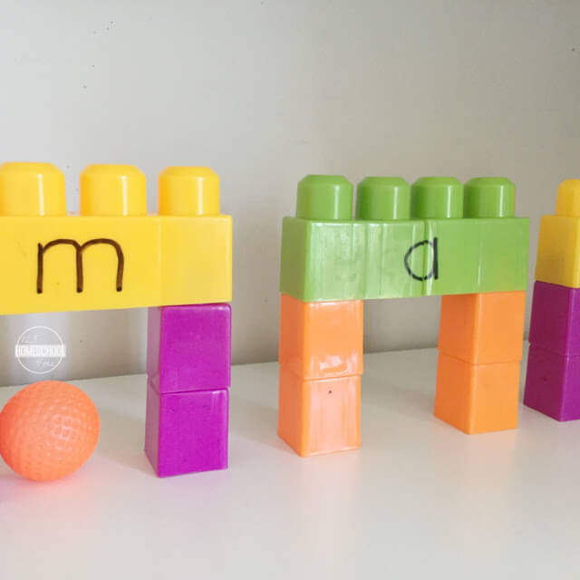fun idea to help prek, kindergarten, first grade, and 2nd grade students practice CVC words