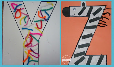 letter y, letter z
