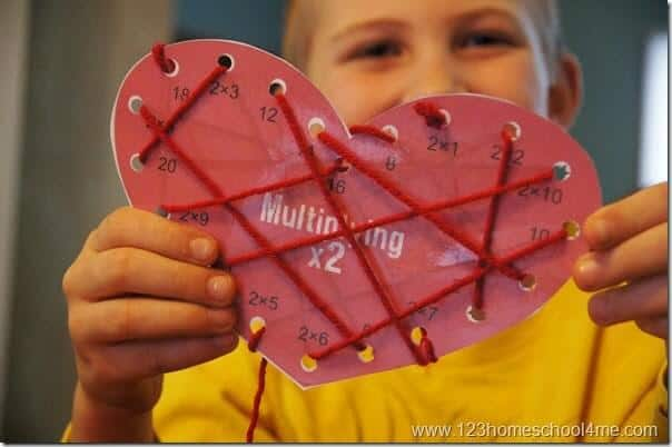 this is such a fun, interactive Valentines Day themed multiplication games for kids