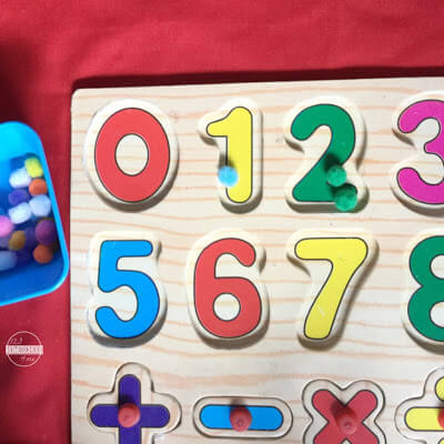 number recognition activity for toddler, preschool, prek, kindergarten