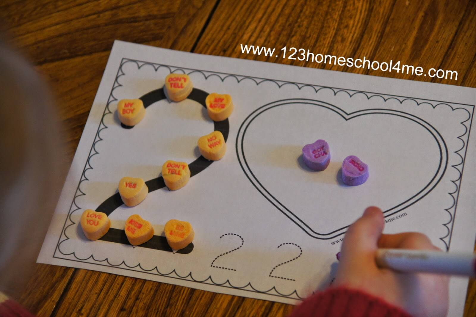 Valentines Day Numbers Book