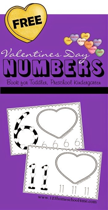 Practice forming number 1-10 and counting to 10 with these super cute valentine's day worksheets to complete with conversation hearts. This valentine's day counting worksheets is the perfect hands-on Valentines Math for toddler, preschool, pre-k, and kindergarten age children. They will love using valentines day candy to make numbers and count to 10 with this valentine activities for preschoolers. Simply download pdf file with valentines day worksheets and you are ready to play and learn in February.