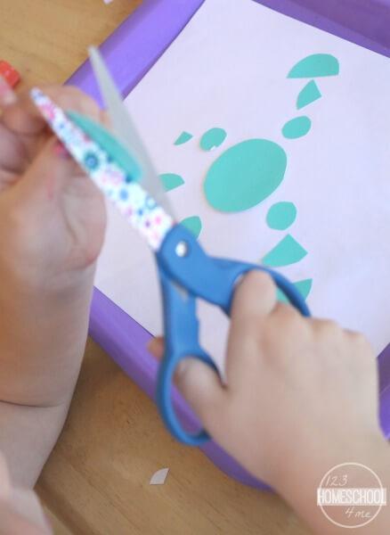 winter fraction activity for kids