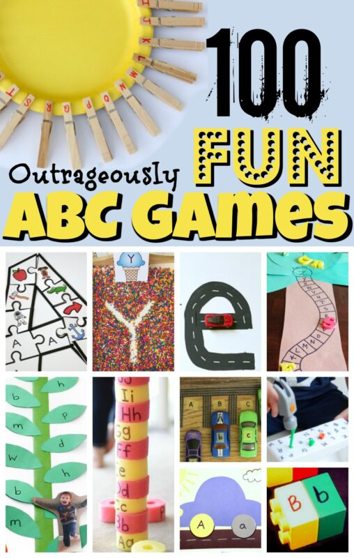 Are your children working on learning their letters? Here are over 100 outrageously fun and creative ABC Games you need to see! These educational alphabet activities are perfect for toddler, preschool, pre k, and kindergarten age kids to try at home with parents, classroom with their teachers, or as homeschooling families. From hands on letter activities to letter matching, tracing letters to free ABC printables, we've got everything you need to teach kids their letters from A to Z.